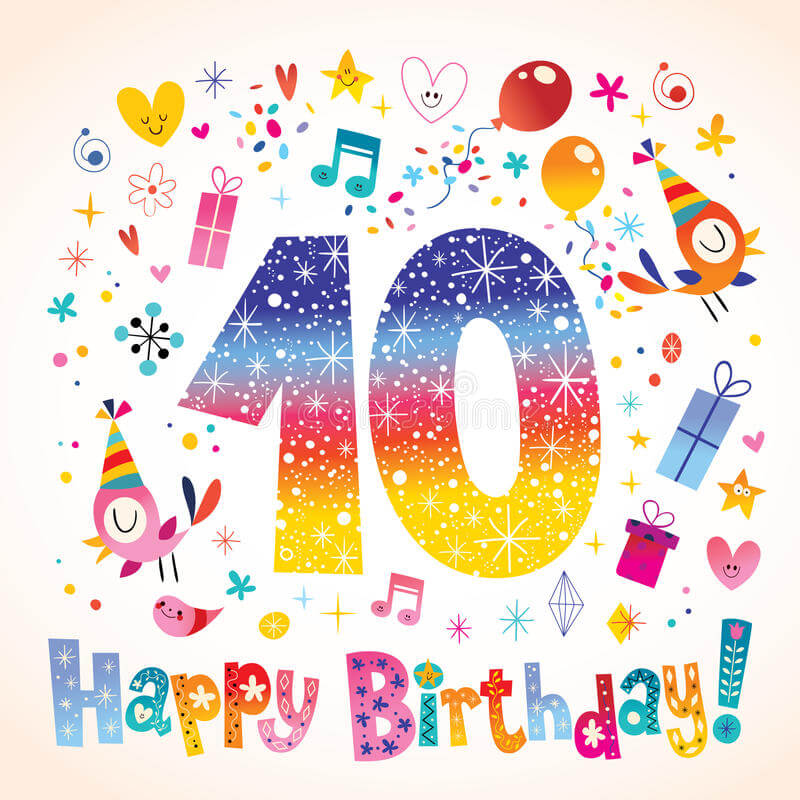 Tenth birthday card